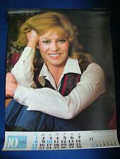 1978 Nathalie Delon Japan VINTAGE Poster Calendar VERY RARE