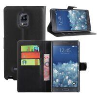 Flip Cover Schutz-Hülle BOOK #M49 Schwarz zu Samsung Galaxy Note Edge / SM-N915