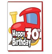 Juguete Tren 70th Tarjeta Cumpleaños - Hombre Hijo Marido Amigo Brother