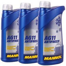 3x 1 L Radiateur antigel bleu ag11 MANNOL Antifreeze -40 ° C réfrigérant à diluer