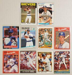 Paul Molitor Lot of 10(Ten) MLB Baseball 1980's & 1990's Real Nice