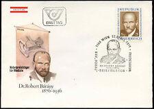 Austria 1976 Dr. Robert barany FDC primo giorno Coperchio #C 24185