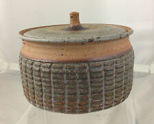 Large Low Footed RAYMOND GALLUCCI (1923-2004) Lidded Vessel