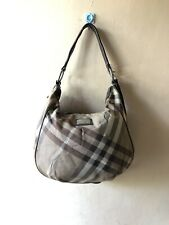 Burberry Blue Label Brown Nova Check Canvas and Leather Hobo