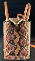 London Fog Womens Leather Snake skin Satchel Handbag Purse