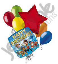 7 pc Paw Patrol Happy Birthday Balloon Bouquet Party Decoration Chase Ryder Skye