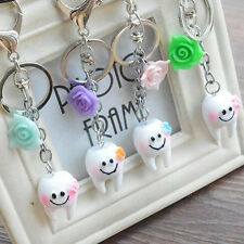 Fashion Rose Smile Teeth Keyring Jewelry Charm Keychain Bag Birthday Lover Gift
