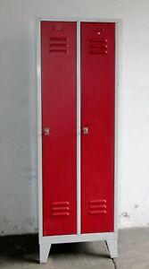 Spind Stahlspind Metallspind Umkleidespind - Vintage Loft Industrie Design #B880