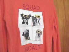 Girls FALLS CREEK Super Soft Dog Friends LS Shirt Size L 10 SQUAD GOALS * NEW