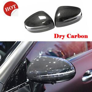 Carbon Side Door Mirror Cover Cap Fit For Mercedes Benz SLK SLC SL AMG GT Add-on