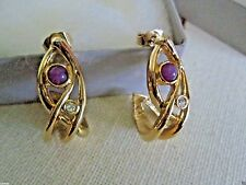 VINTAGE AVON JEWELESQUE PASTEL PIERCED EARRINGS W/SURGICAL STEEL POSTS*1991*NIB*