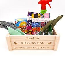Personalised Gardening Crate, box. Garden gift allotment, greenhouse. Storage