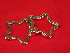 """BULK! 50pc """"Star"""" split key ring in silver style"""