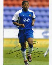 Antonio Valencia, Wigan Athletic, Ecuador, Man Utd, firmado 10x8 pulgadas foto cert. de autenticidad.