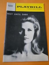 August 1966 - The Shubert Theatre - Wait Until Dark - Lee Remick