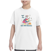 Youth Kids Gildan T-shirt Need Hug Call Grandma Cat k-142