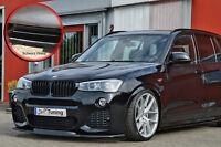 Spoilerschwert Frontspoiler Lippe ABS für BMW X4 F26 M-Paket schwarz glanz ABE
