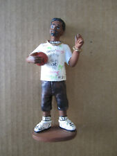 "Figurine of bearded guy with basketball and bling - 6 1/4"" tall"