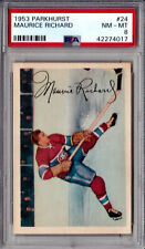 1953 MAURICE RICHARD PARKHURST #24 NM/MT PSA 8