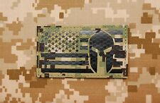 Infrared AOR2 NWU III US Spartan Helmet Flag Patch IR US Navy SEAL Molon Labe