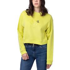 Calvin Klein Monogram Cropped Sweater Damen Sweatshirt gelb J20J216548-LSK