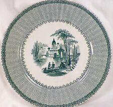 Cassino Green Transferware Dinner Plate George Jones Ca 1854 Antique Transfer