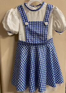 Wizard of Oz Dorothy Costume Dress Halloween Sparkle Fancy Girls Small