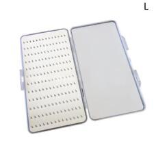 Slim Clear Easy Grip Foam Plastic Fly Fishing Box Holds Flies Hold Case 168 W5G6