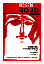 "Cuban movie Poster 4 film""RED Desert""Italy France Art by Michelangelo Antonioni"