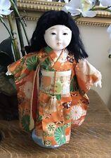 "Vintage 14""  Ichimatsu Gofun Japanese Doll- Glass Eyes    TS"