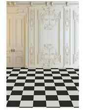 5x7FT Vintage Frame Wall Checkers Floor Photo Studio Background Backdrop Vinyl