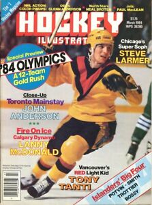 March 1984 Hockey Illustrated Tony Tanti Vancouver Canucks Cover Vintage Rare