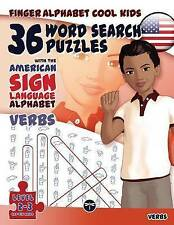 36 Word Search Puzzles with the American Sign Language Alphabet: Verbs  (FingerA