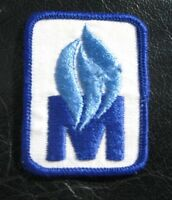 "M EMBROIDERED SEW ON PATCH INITIAL COMPANY ADVERTISING 2"" x 2 1/2"""
