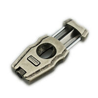 Stainless Steel Cigar Cutter V-Cut Guillotine Cut Blade with Cigar Punch Scissor