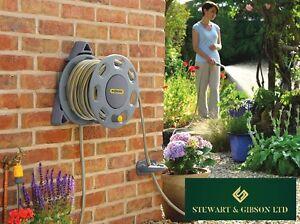 Hozelock 2422 Wall Mounted Garden Reel 15m/49ft Starter Hose Watering Equipment