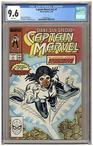 Captain Marvel v2#1 (CGC 9.6) Monica Rambeau; Marvel Comics; 1989 A602