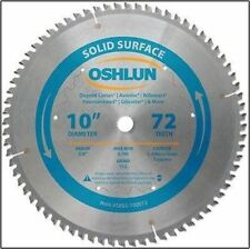 """10"""" 72T Carbide Tip Corian Solid Surface Saw Blade"""