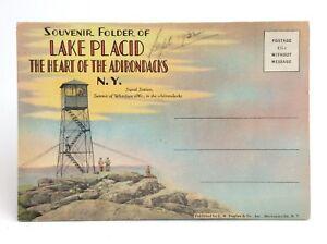 Lake Placid Adirondacks New York Parks Souvenir Folder Unposted Post Card H809