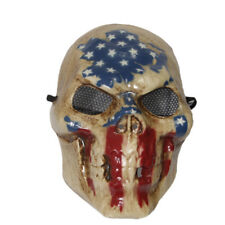 The Purge 3 Skull Mask USA Flag Halloween Fancy Dress Adult Election Year Horror