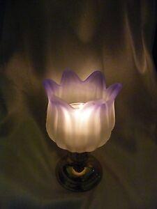PartyLite Purple Tulip Peglite ~ RETIRED ~ Excellent Pre-Owned Condition ~
