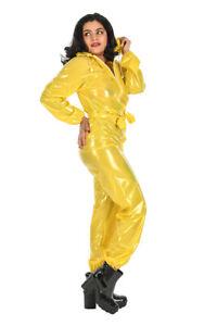 PVC Ganzanzug Regenanzug Gummi Gr. M-2XL  gelb glänzend