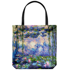 Water Lilies by Claude Monet Women's Floral Tote Bag | French Art