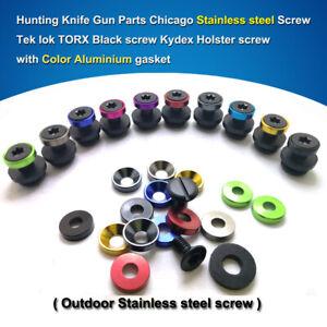 Tek Lok Stainless steel Screw Chicago Screws Kydex Holster OWB belt screws