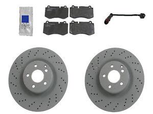 For Mercedes W221 S550 w/ AMG 07-13 Front Brake KIT GENUINE Rotors JURID Pads