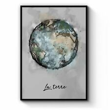 The Earth Space Science Painting Wall Art: Print, Canvas or Framed