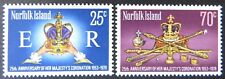 1978 Norfolk Island Stamps - 25th Anniversary Coronation QEII - Set of 2 MNH