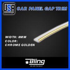 Car SUV Vehicle Interior Garnish Edge Molding Gap Trim Strip Line 120inch Golden