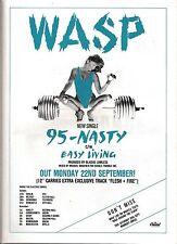 WASP 95 - NASTY UK magazine ADVERT / mini Poster 11x8 inches