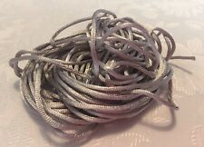 3Mx2mm Satin Jewellery Rope Cord DIY Nylon Child Safe Necklace String SILVER
